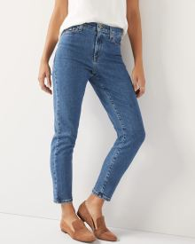High-rise Slim leg Yoga Jeans TM in dark wash denim