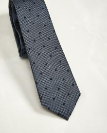 Regular Dotted navy tie