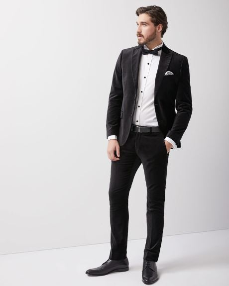 Slim fit tuxedo dress shirt with french cuff
