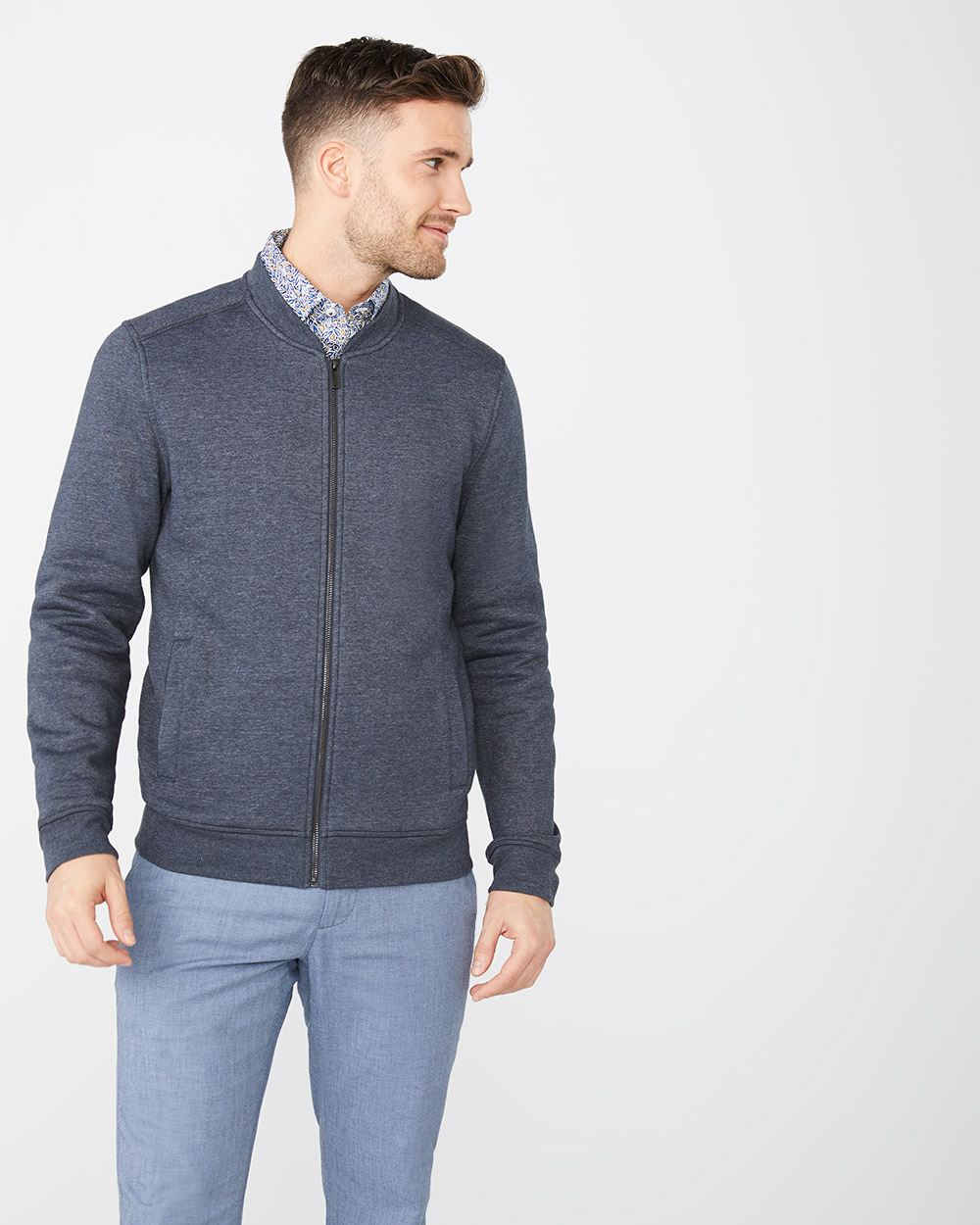 Fleece bomber cardigan