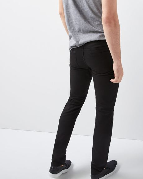 Slim fit black 5-pocket pant