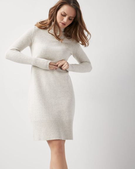 C&G Long sleeve Turtleneck sweater dress