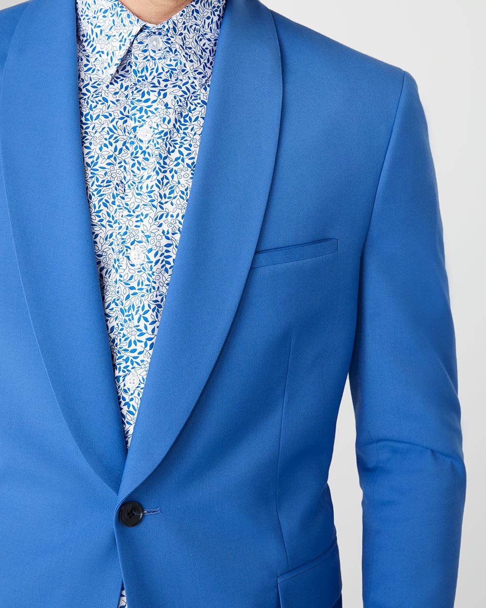 Tailored Fit Bright blue suit blazer