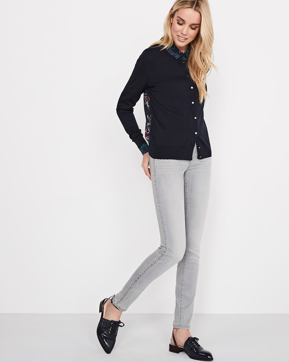 Stretch long sleeve blouse