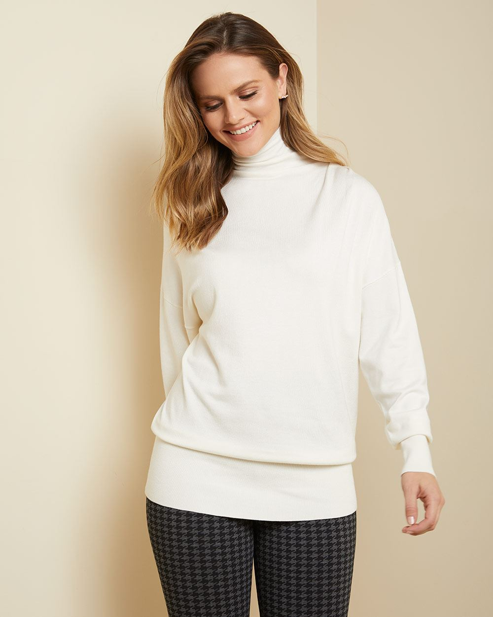 C&G Funnel neck tunic sweater