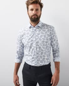 Tailored Fit Paisley Dress Shirt