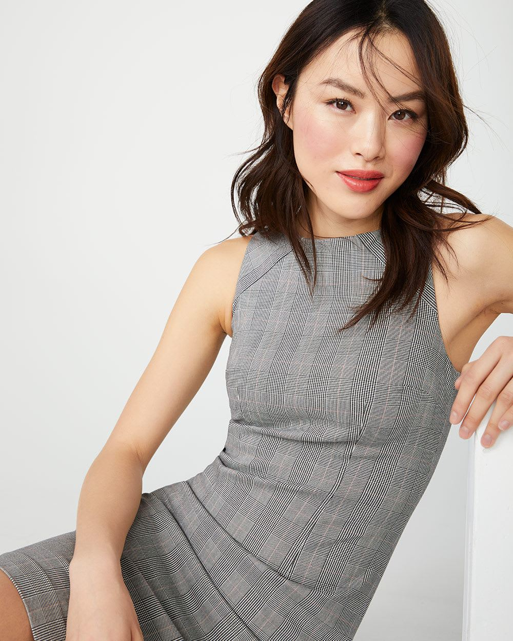 Fitted Glen plaid City dress