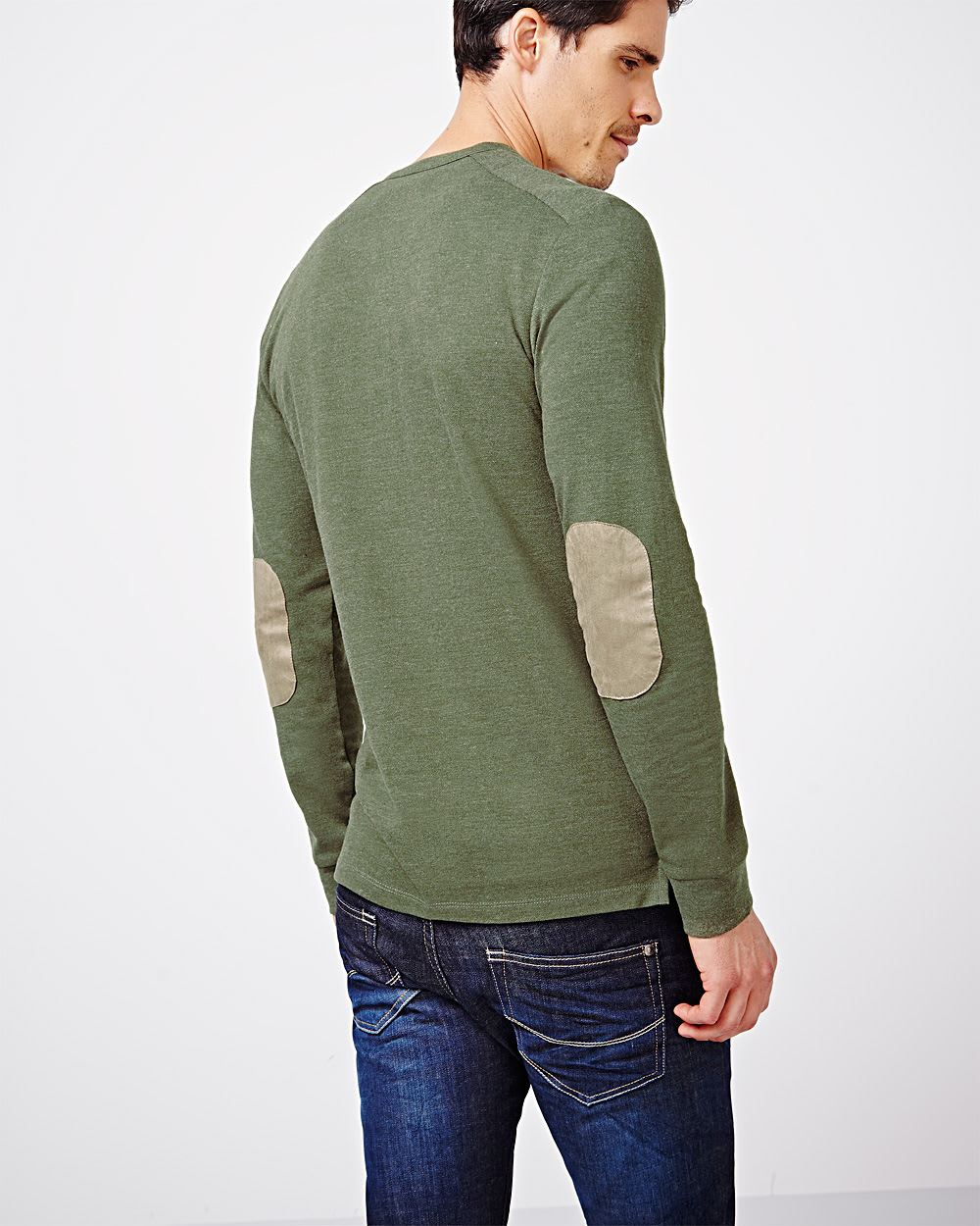 Henley T Shirt With Elbow Patches Rw Co