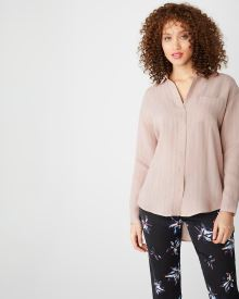 Long sleeve Button-down blouse with pocket