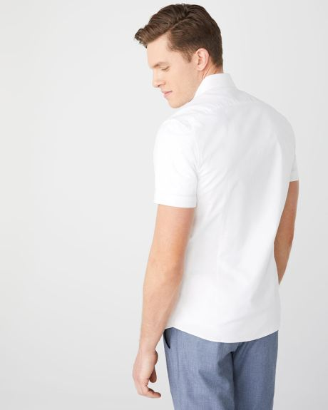 Slim Fit short sleeve stretch Oxford Shirt