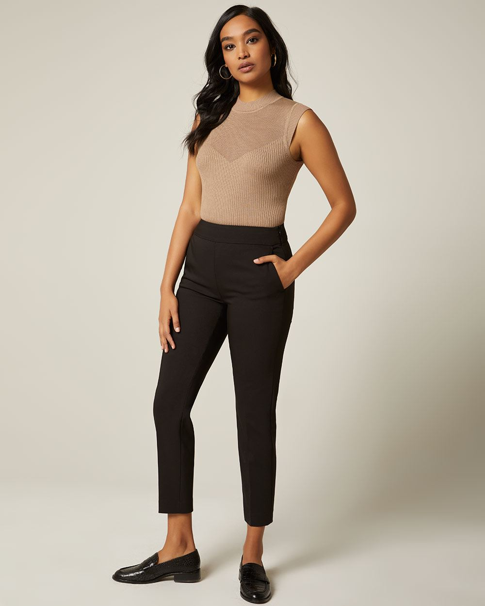 Modern chic High-waist Signature fit Slim Leg Ankle Pant