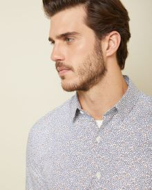 Tailored fit Geo trees shirt