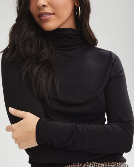 Long Sleeve Mock-Neck T-Shirt