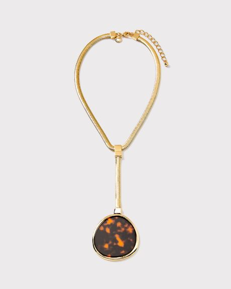 Tortoise shell pendent necklace