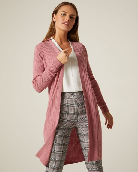 C&G Ribbed open-front cardigan