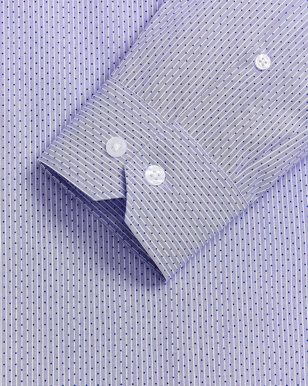 Slim Fit dots on stripes Dress Shirt