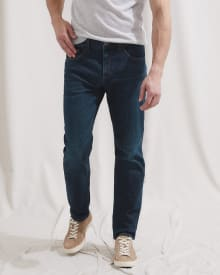 Straight Leg Dark Wash Jeans