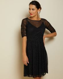 Sparkly lace fit and flare dress