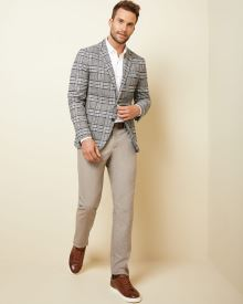 Slim fit Glen check blazer
