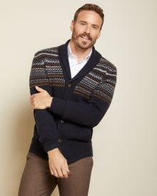 Fair isle button-down cardigan