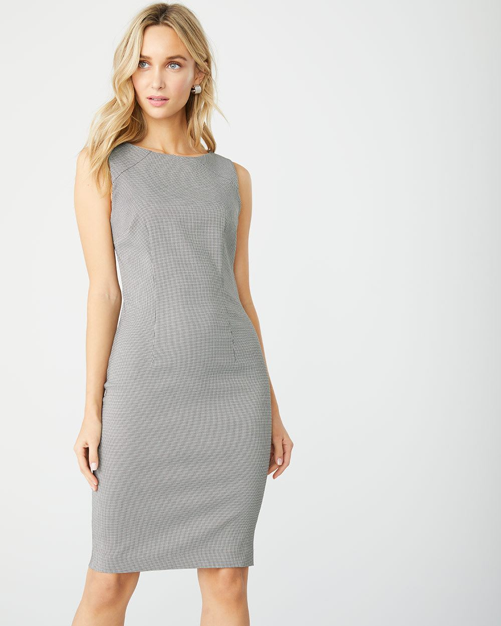 910ffb545d6 Fitted mini houndstooth City dress