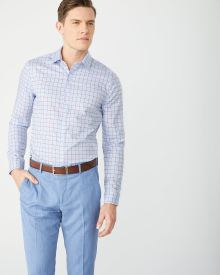 Slim Fit large plaid dress shirt