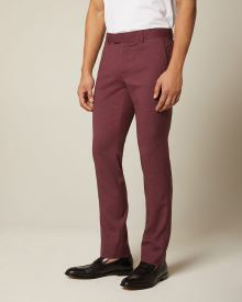 Slim fit Burgundy suit pant