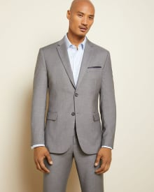Essential Tailored Fit stretch light grey Blazer