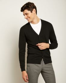 Button-Down V-Neck Cardigan