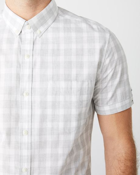 Slim Fit Short Sleeve Buffalo check Shirt