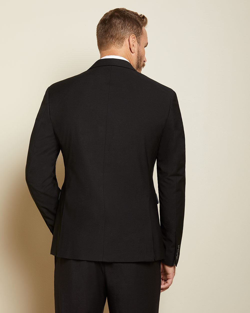 Essential Athletic Fit black wool-blend suit Blazer