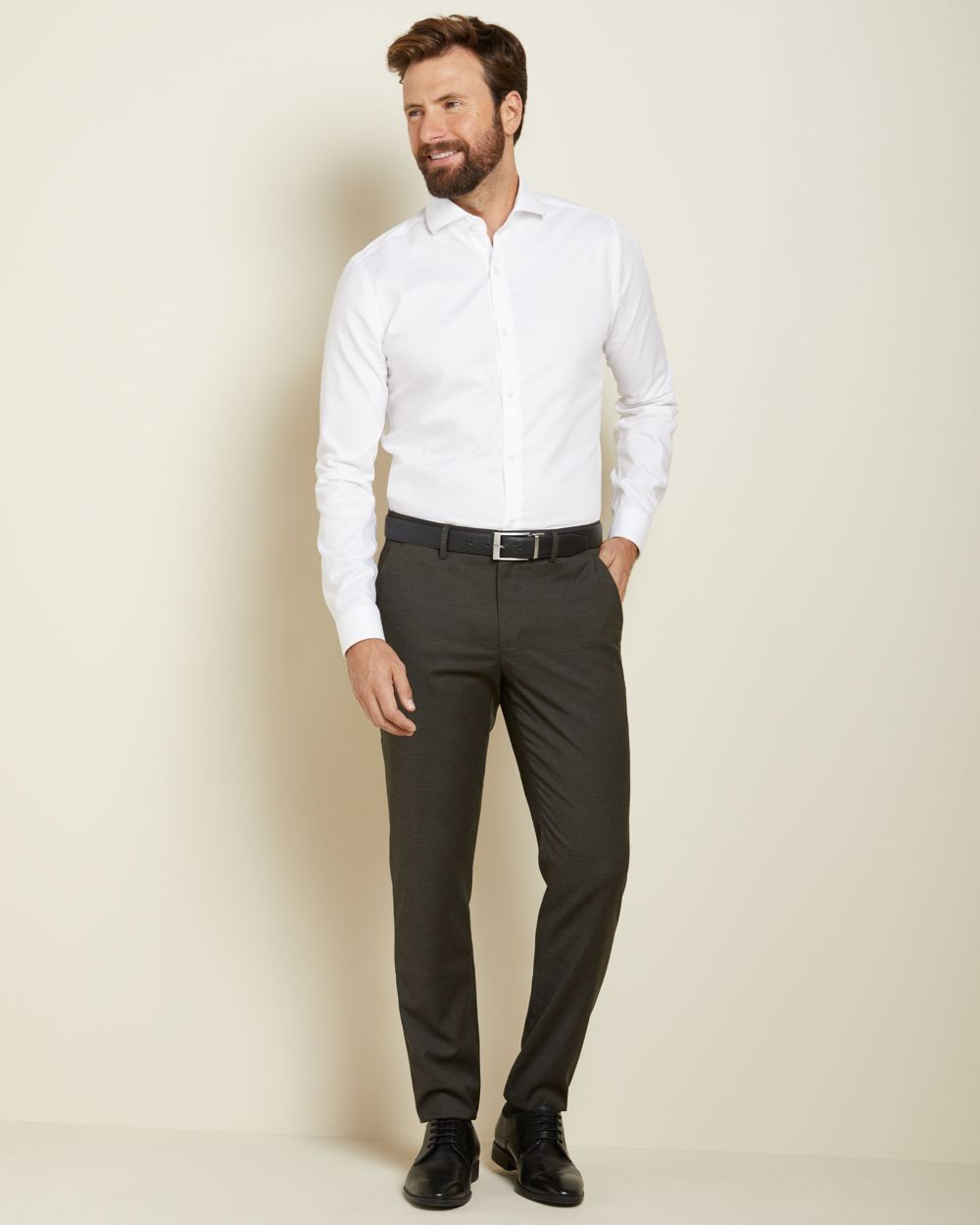 Slim fit two-tone dark green City Pant