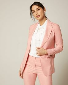 Long fitted heather pink blazer
