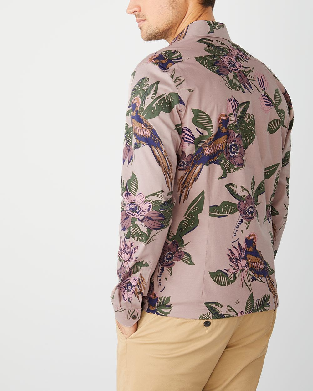 Slim Fit Floral Stretch shirt