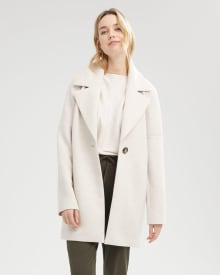 Stretch Buttoned Top Coat