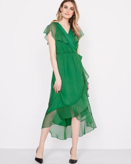 Green Color Las Gown