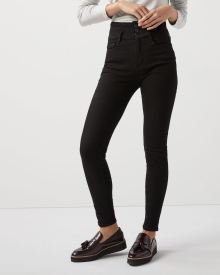 Ultra high-rise extreme 360 stretch black skinny jeans