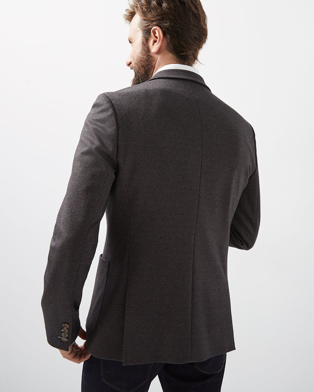 Slim Fit Twisted yarn Blazer