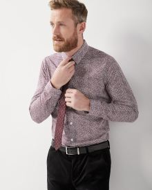 Slim Fit small floral dress shirt