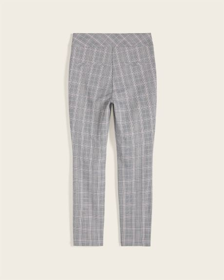 C&G Cropped Pink Plaid City Legging Pant