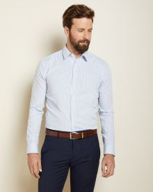 Slim Fit small grid check Dress Shirt