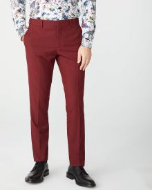 Tailored fit Marsala Red suit pant