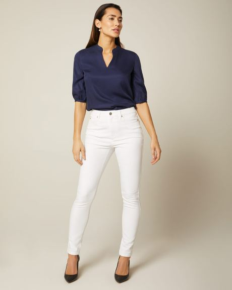 Jegging Natalie taille haute blanc - 28''
