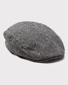 Nepped tweed Flap Cap