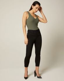 Natalie High-waisted cropped black jegging