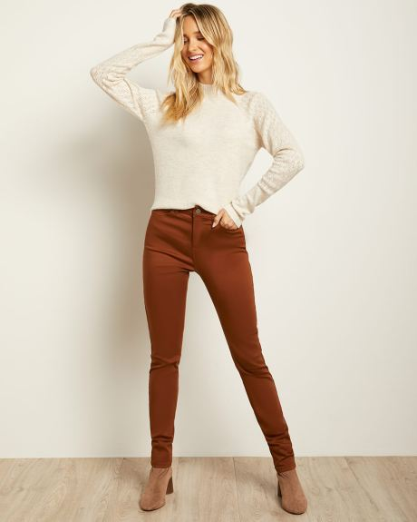 High-waisted Skinny Jeans in Coloured Denim - 32''