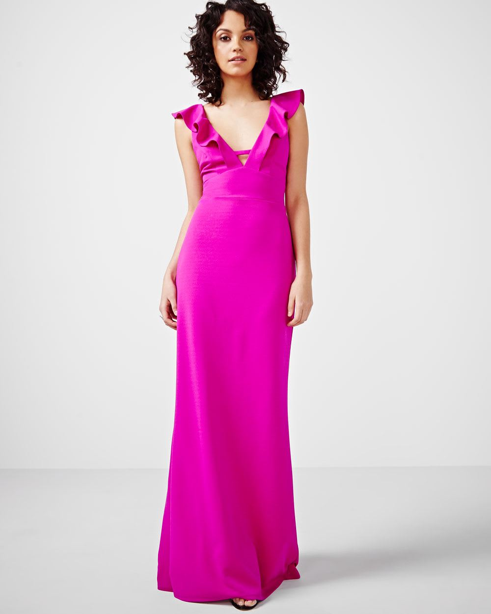 ABS by Allen Schwartz Maxi Dress with Ruffles | RW&CO.