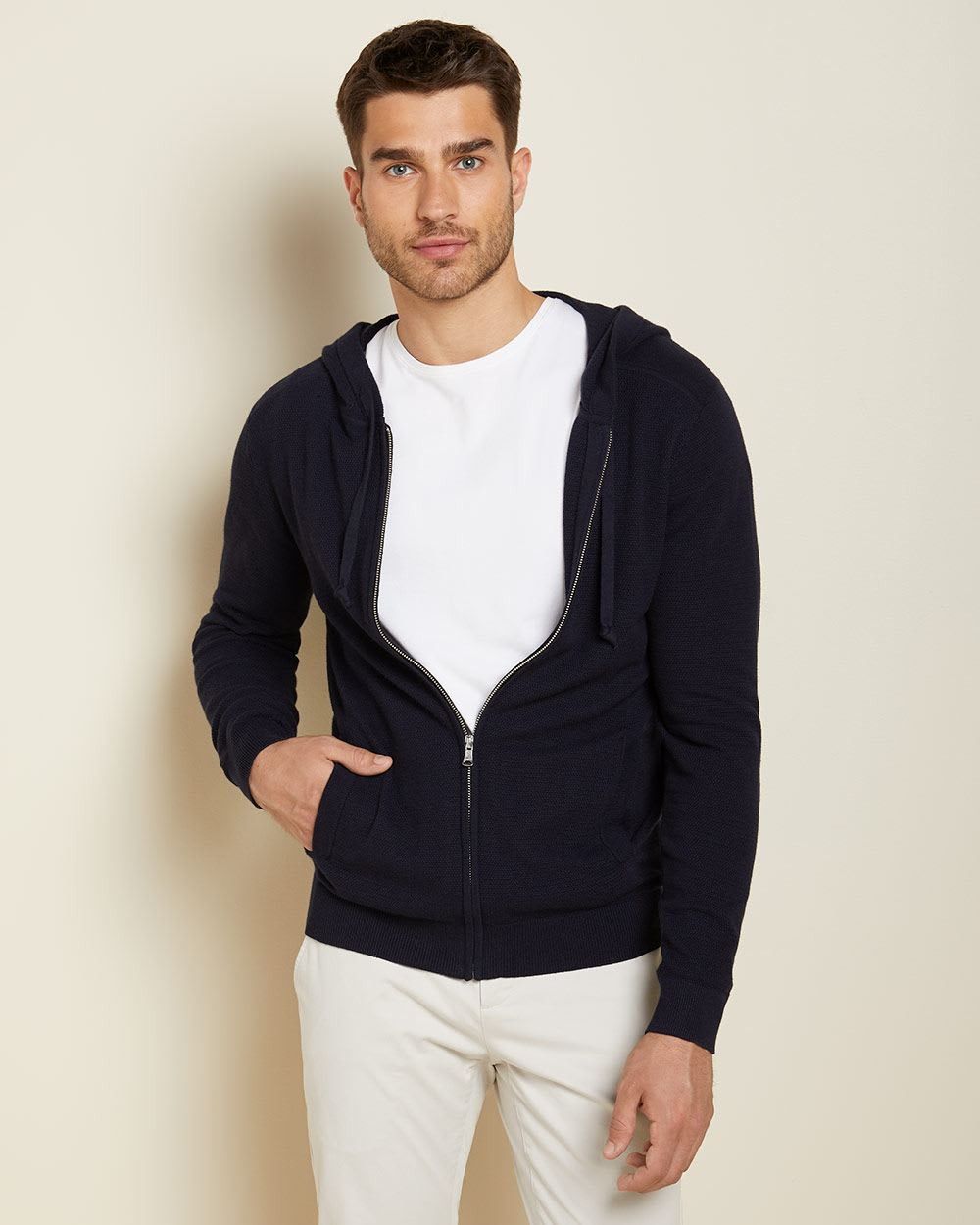 Navy cardigan with Hood