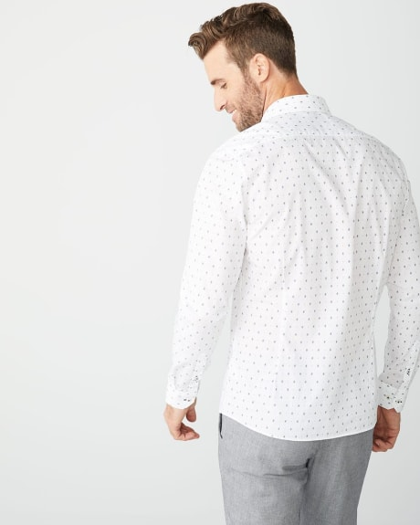 Slim Fit geo print Shirt