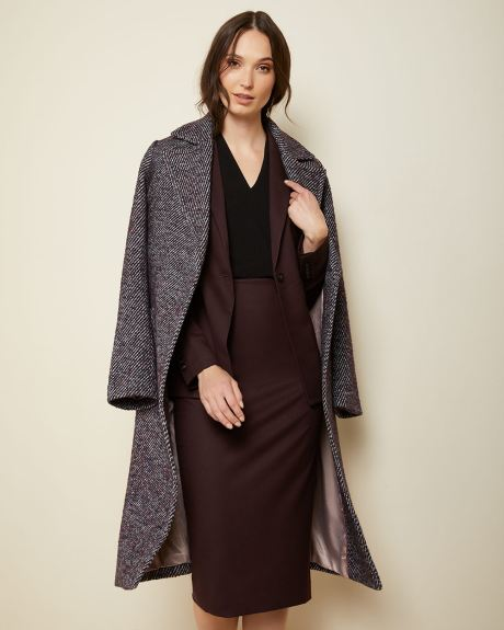 Belted twill coat